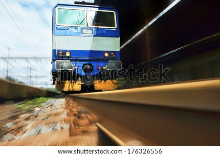 Train on the trail  - stock photo