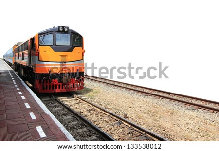 Train On White Background - stock photo