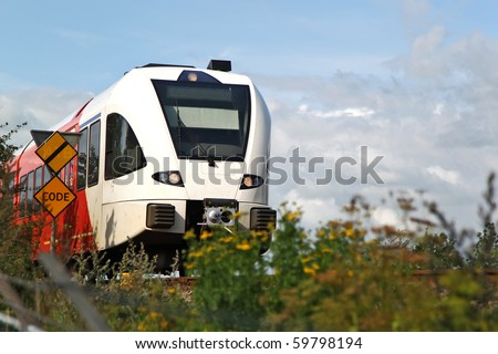 train passing by - stock photo
