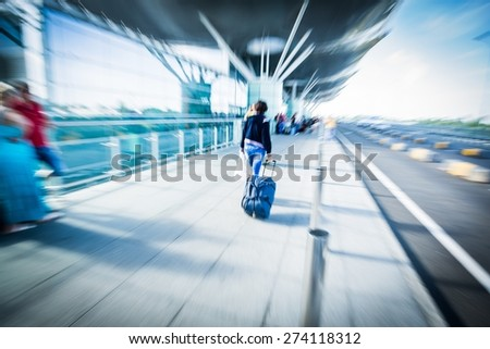Train, People, Station. - stock photo