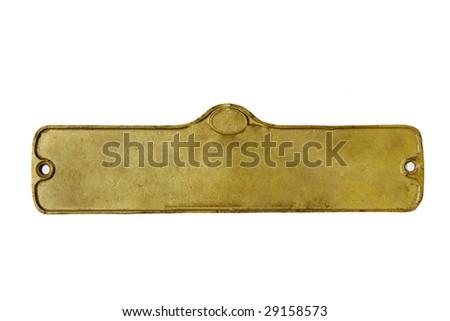 train plate - stock photo