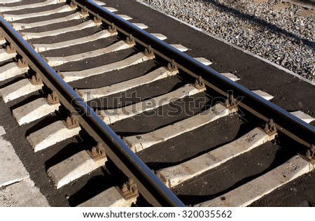 Train rails. Urban background and texture - stock photo