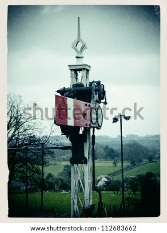 Train signal - stock photo