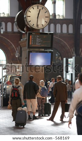 Train station - stock photo
