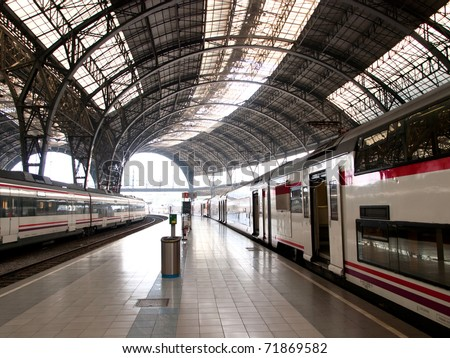 Train station / Barcelona,Spain - stock photo
