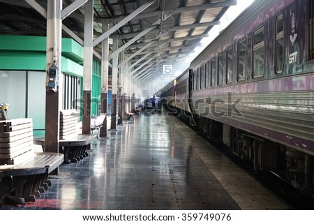 Train Station,Light and Shadow - stock photo