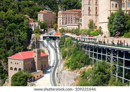 Train Station Monastery de Montserrat (Spain) - stock photo
