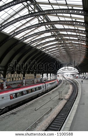 Train station of York, England