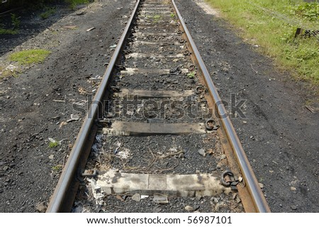 Train track, this train track made from iron
