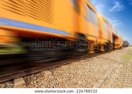 Train transport - stock photo