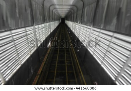 train tunnel with motion blur deep under space, for text and May You be used as background