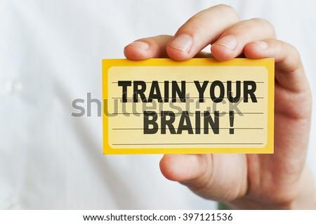 Train Your Brain ! - stock photo