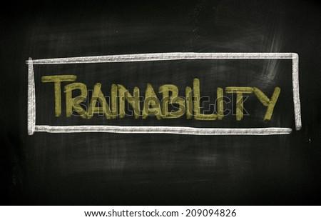 Trainability Concept - stock photo