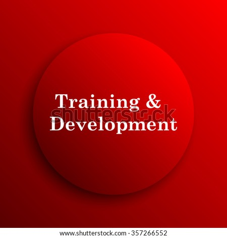 Training and development icon. Internet button on white background.