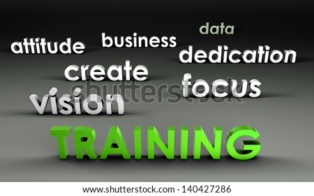 Training at the Forefront in 3d Presentation - stock photo
