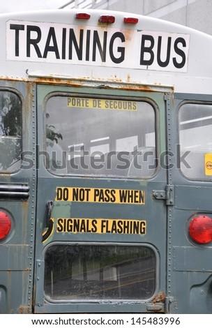 Training bus - stock photo