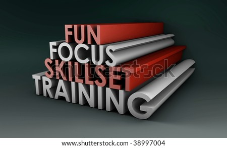 Training Course Focus on Skillset in 3d - stock photo