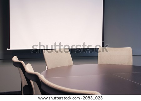 Training room with chairs.