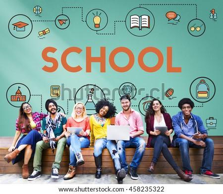 Training School Development Literacy Wisdom Concept - stock photo