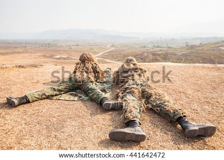 Training snipers on the ground