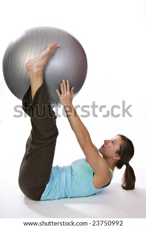 Training with an exercise ball