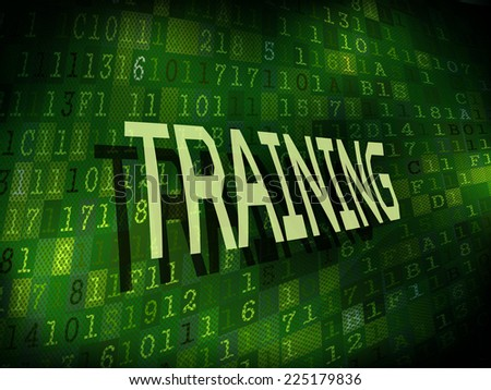 training word isolated on internet digital background
