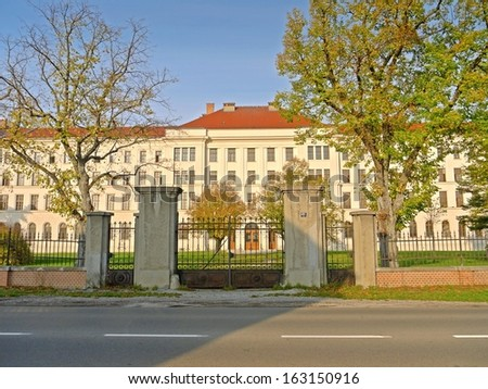 Traiskirchen, AUSTRIA - 16 NOVEMBER 2013: The placement of refugees in the shelter in Traiskirchen causes political controversies and debates in the media. Traiskirchen, Nov 16 2013  - stock photo