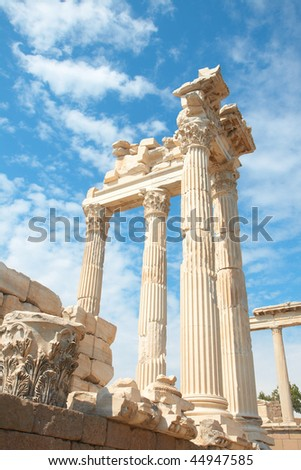 Trajan Temple in ancient city of Pergamon, Turkey