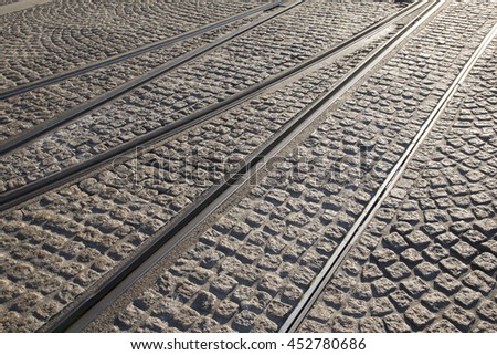 Tram Tracks, Amsterdam, Holland, Netherlands