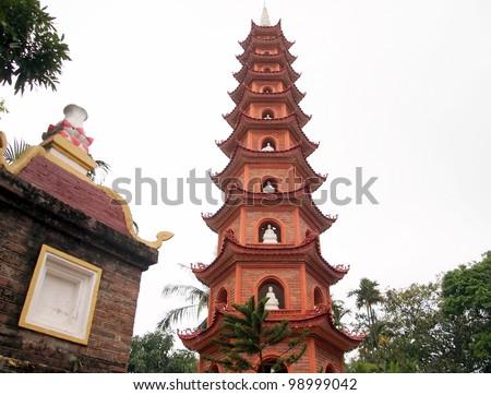 Tran Quoc Pagoda - Hanoi, Vietnam - stock photo