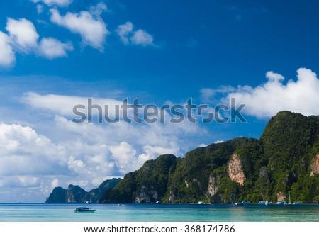 Tranquil Bay Sea Rocks  - stock photo