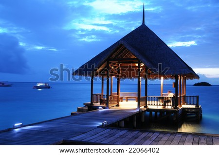 Tranquil Beach * - stock photo