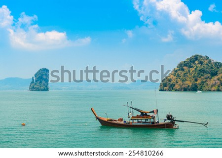 Tranquil ocean view in tropics - stock photo