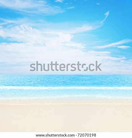 Tranquil tropical beach - stock photo