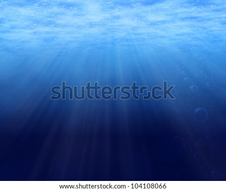 Tranquil underwater background with copy space - stock photo