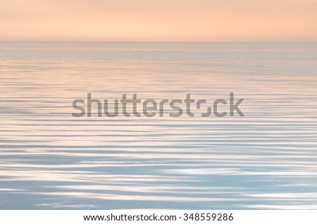 Tranquility on the sea in evening - stock photo