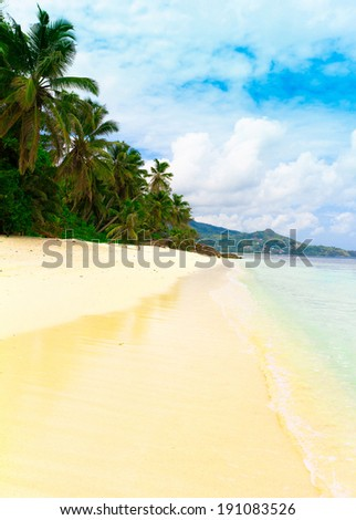 Tranquility Panorama Summertime  - stock photo