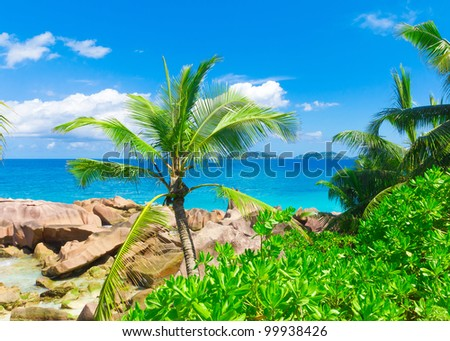 Tranquility Summertime Sea - stock photo