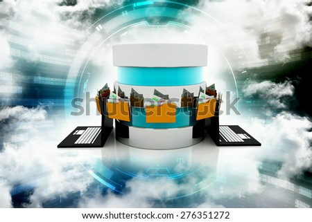 Transfer of documents. Forwarding files conceptual 3d illustration - stock photo