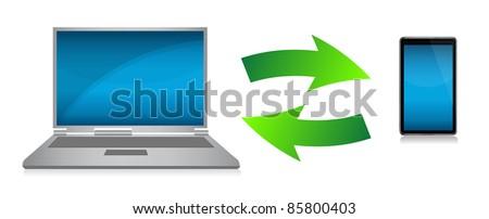 transferring files concept illustration design - stock photo