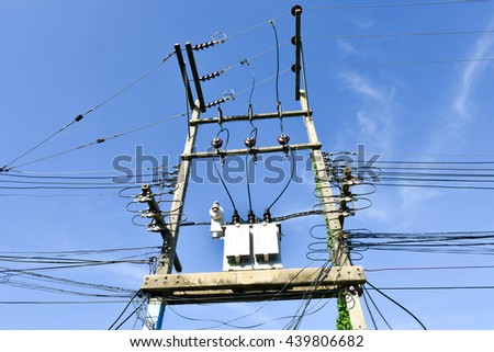 transformer on the pole