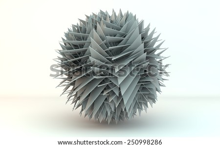 transforming sphere - stock photo