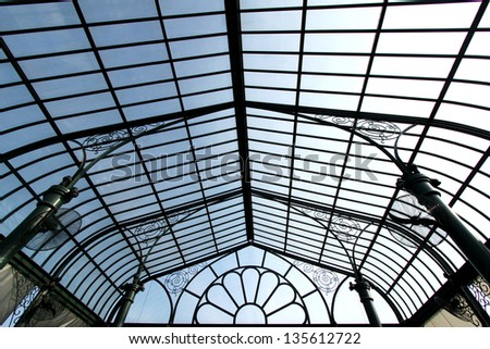 Translucent roof - stock photo