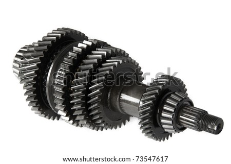 Transmission gears , isolated, on a white background - stock photo