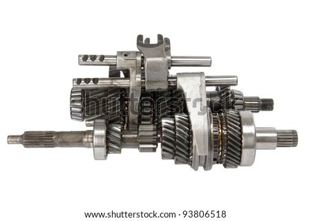 Transmission gears , isolated on a white background - stock photo
