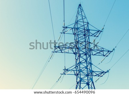 Transmission line with wires