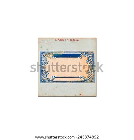 Transparency slides with inscription made in U.S.A on white background - stock photo