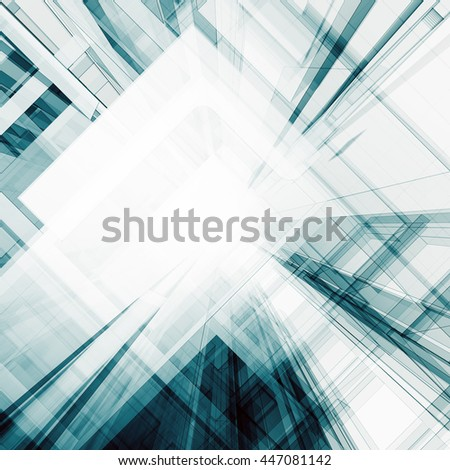 Transparent abstract. Concept 3D rendering - stock photo