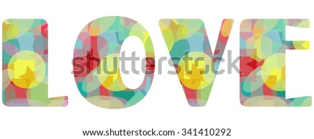 transparent abstract love, isolated symbol