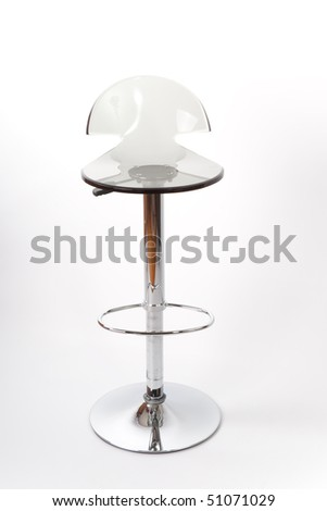 transparent bar stool - stock photo
